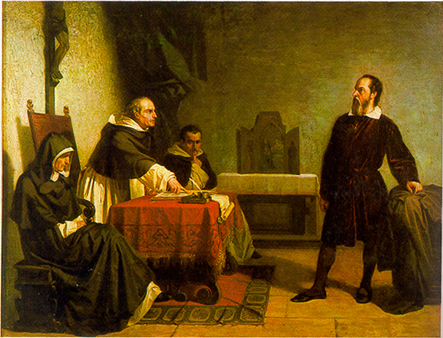 """Galileo facing the Roman Inquisition"" by Cristiano Banti - Wikimedia"