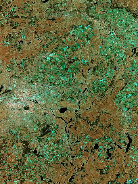 Berlin from Sentinel  Copernicus data/ESA (2014)